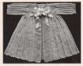 Adorable 1916 heirloom quality Infants kimono crochet pattern, fast easy download