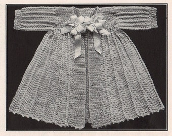 Adorable 1916 heirloom quality Infants kimono crochet pattern, fast easy download