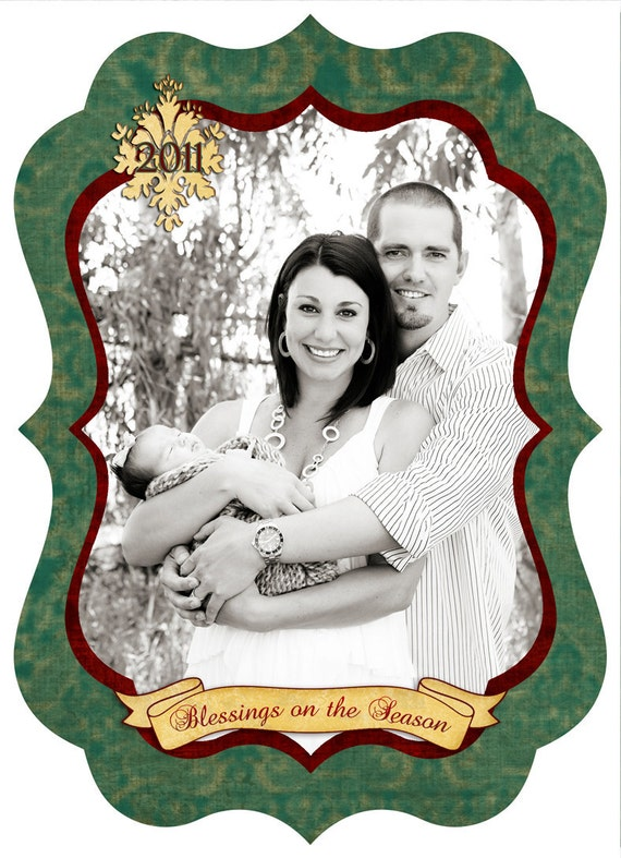 Christmas Photo Card-Set 23 **** Instant Download****