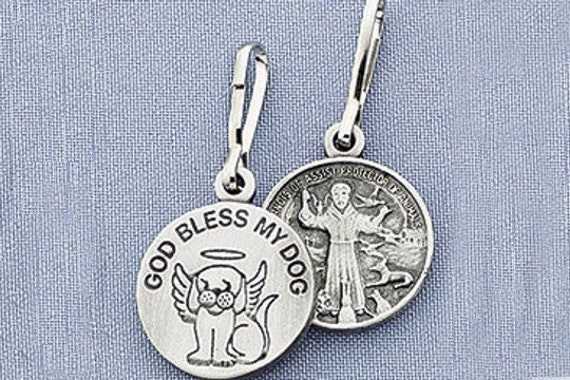 St Francis Of Assisi Dog Medal By Silvercrowgreyhounds On Etsy