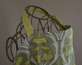 nurse.me...Green Fern Passion Lily (nursing cover with minky pocket...Ready To Ship)