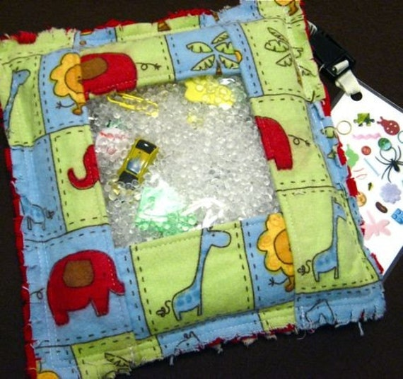 I Spy Game - Safari Animal Rag I Spy Bag, educational toy, quiet and travel eye spy game, safari party, birthday gift, elephant lion