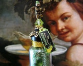 Deluxe Green Fairy Absinthe Potion Bottle 1/12 scale by Dark Squirrel Victoria