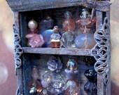 Shabby Dragonfly Mini Perfume Cupboard in 1/12 scale by Dark Squirrel