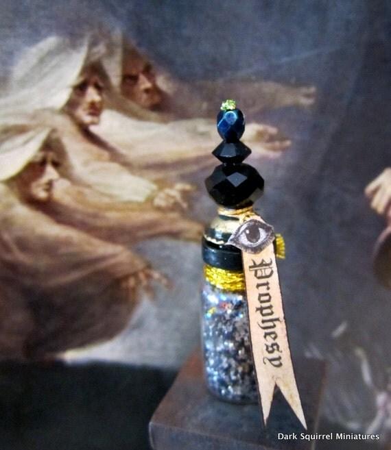 Prophesy Potion Bottle OOAK dollhouse miniature in one inch scale