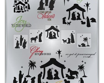 Nativity SVG Files - Christmas Cuttable SVG Files - Nativity Designs Ai Eps Gsd Svg - Nativity Scene Design for Cricut or Silhouette
