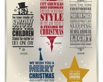 Christmas Subway Art SVG Files - Snowman Svg - Christmas Cuttable SVG - Christmas Cut Files for Cricut or Silhouette - Ai Svg Gsd Eps
