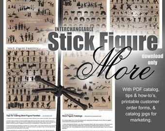 Stick Figure People Vector Designs - Ai Eps Gsd Svg - Digital Cut Files for Vinyl Cutters - Car Window Vector Art Cuttable SVG