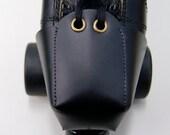 Plain Black Leather Toe Guards