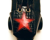 """Leather  """"Gator"""" Toe Guards with Red Star"""