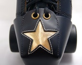 Leather Toe Guards with Gold Stars