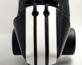 DA-45 Leather Toe Guards with Ref Stripes