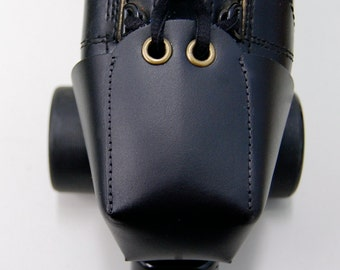 Plain Black Leather Toe Guards