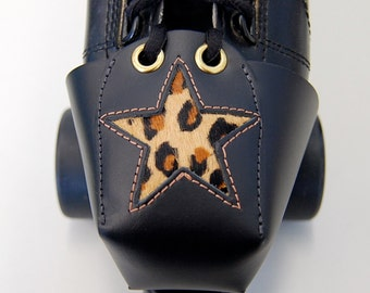 Leather Toe Guards with Leopard Print Stars