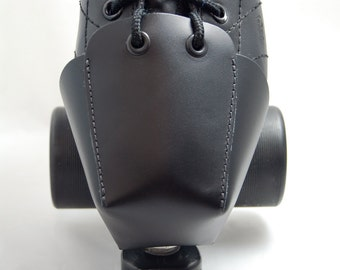 DA-45 Plain Black Leather Toe Guards