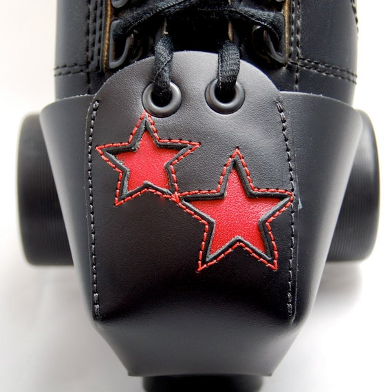 Leather Toe Guards with Double Red Stars
