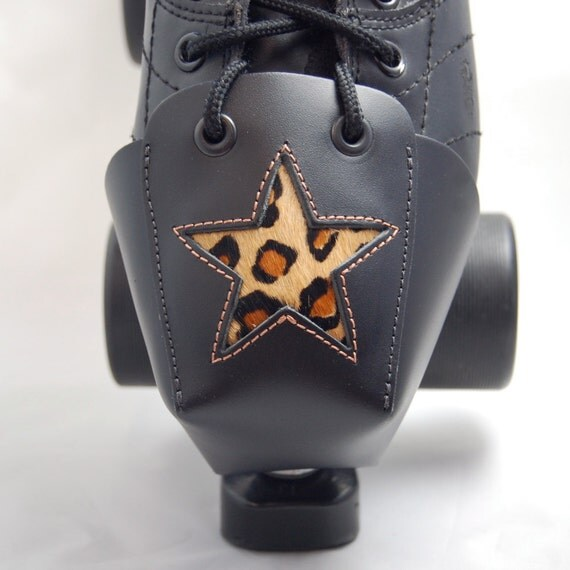 DA-45 Leather Toe Guards with Leopard Print Stars
