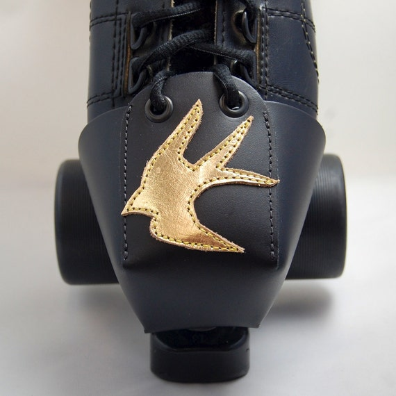 Leather Toe Guards with Gold Leather Swallows