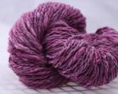 handspun alpaca yarn orchid 3 oz