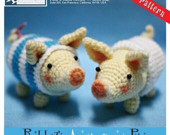 PDF Pattern - Amigurumi Poogie Pigs (Set of Two)