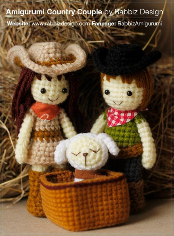Amigurumi Cowboy Hat : Amigurumi Cowboy, Cowgirl, and Lamb Pattern from ...