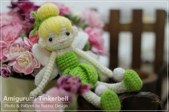 Tinkerbell Amigurumi Crochet Doll Ready to Ship