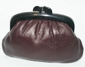 vintage Italian leather clutch purse