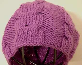 Llilac knitting Slouchy hat