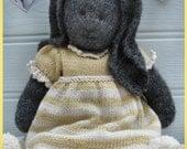 DAISY Rabbit / Toy Knitting Pattern/ Pdf Bunny Knitting Pattern/ Plus FREE Handmade Shoes Knitting Pattern/ INSTANT Download