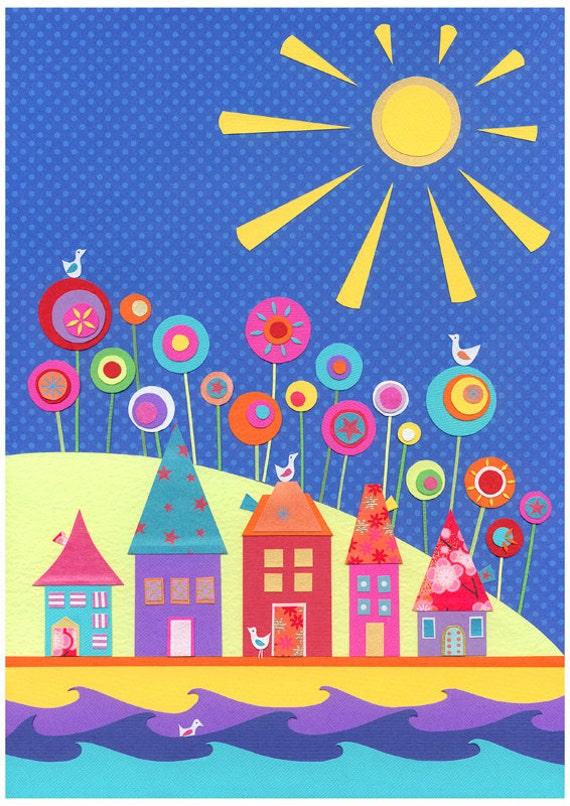 Under A Warm Sun - a4  art print