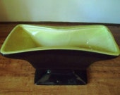 Cool 50s-60s Royal Windsor Black and Chartreuse Planter