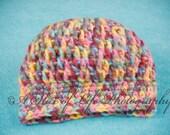 Rainbow Sherbet Newborn Hat