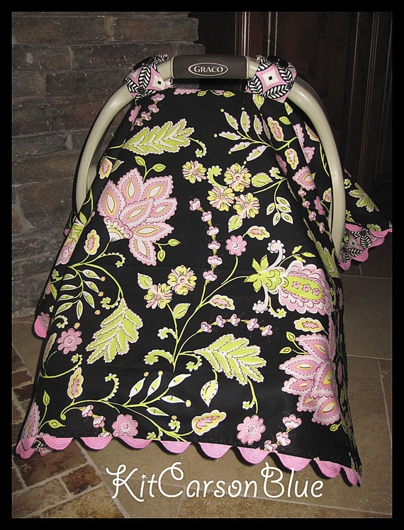 items similar to darling baby car seat covers the mckenzie paisley very girly baby girl. Black Bedroom Furniture Sets. Home Design Ideas