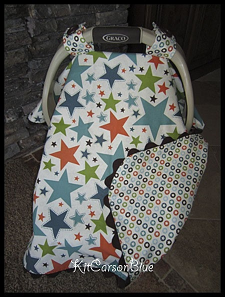 super cute baby car seat covers by kitcarsonblue on etsy. Black Bedroom Furniture Sets. Home Design Ideas