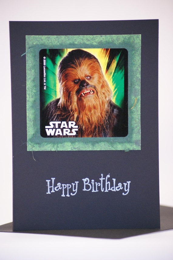 Snap Star Wars Birthday Card Chewbacca Funny By Averycampbellart