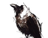 CROW NO 16, Limited Edition A5 Fine Art Glicee Print of my original illustration
