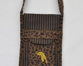 Eco Padded iPad/Netbook Wrap Leopard Print with Embroidered Leopard Grrr