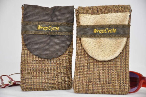 Eco Glasses or Sunglasses Cases Padded made from Upcycled Fabrics