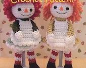 amigurumi Doll pattern, crochet girl rag doll stuffed toy plush tutorial, instant download