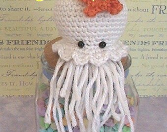 Jellyfish crochet pattern, amigurumi pattern, plush stuffed jellyfish toy tutorial, instant download