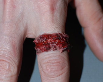 Halloween Horror Jewelry  - Three chopped Flesh  Rings- Extra Chunky