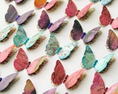 24 Elegant Handmade LAYERED BUTTERFLIES with a Touch of SPARKLE