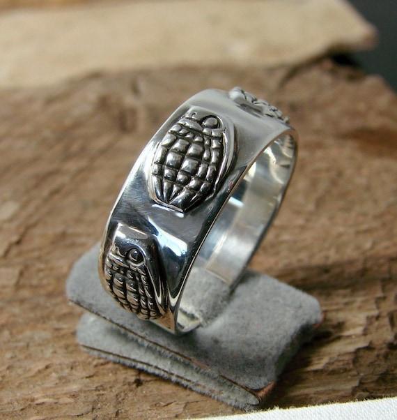 Grenade - Sterling Silver Ring