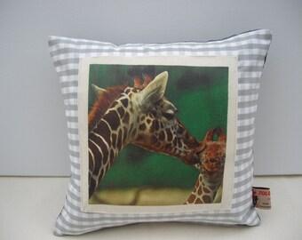 Giraffe Photo Print Cushion Cover