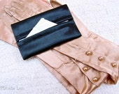 FREE SHIPPING-Luxurious Shiny Sophisticated Black Fabric Soho Tissue Holder