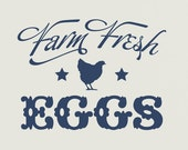 Farm Fresh Eggs Vinyl Wall Decal