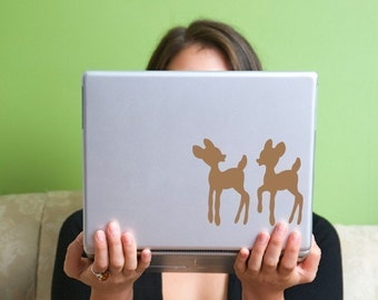 Woodland Deer Vinyl Laptop Decal