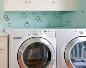Bubbles - Viny Wall Decal - Laundry Bathroom Wall Decals