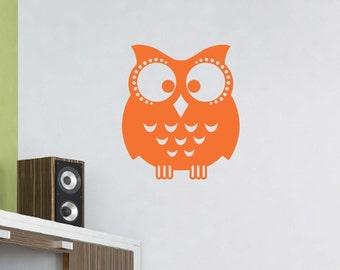 Owl Wall Decal, Owl Wall Stickers, Childrens Wall Decor, Nursery Wall Art, Owl Nursery