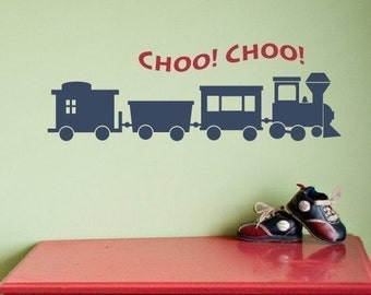 Train Wall Decal, Boys Wall Decals, Childrens Wall Decals, Boy Bedroom Decor